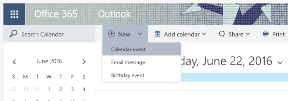 On Line Outlook event image