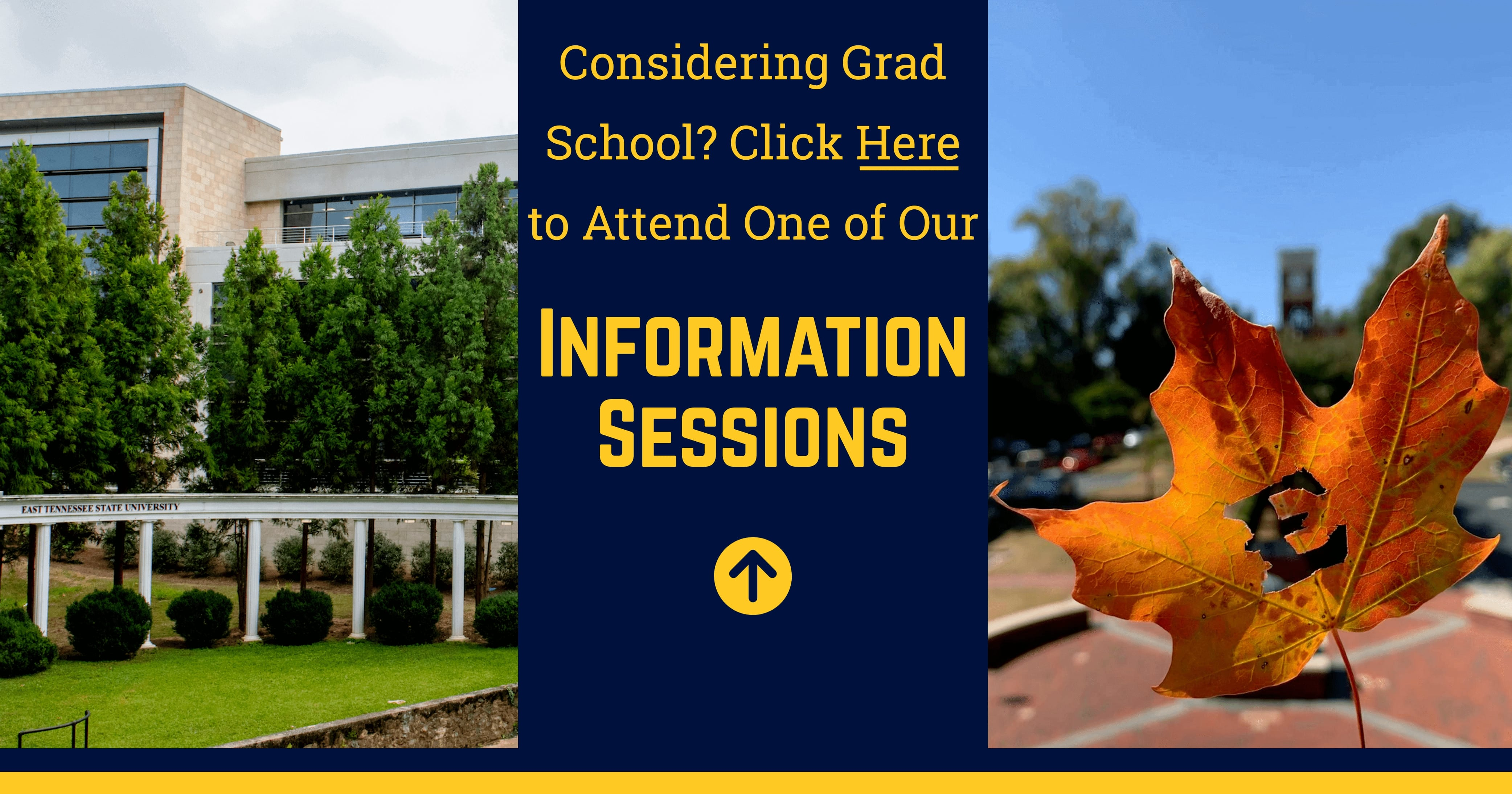 Considering Grad School? Click Here to attend one of our information sessions!