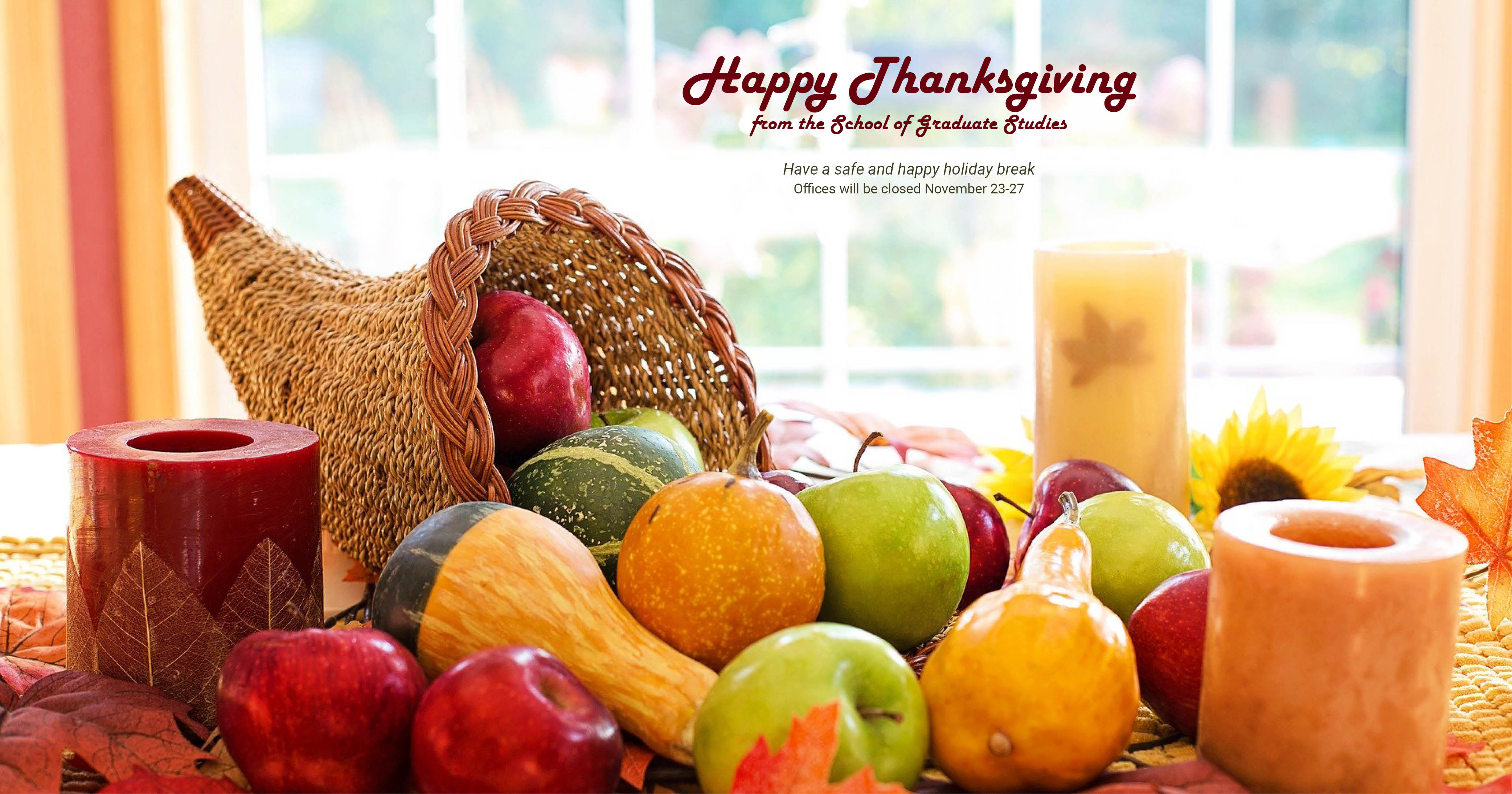 ETSU  offices are closed for the Thanksgiving break.