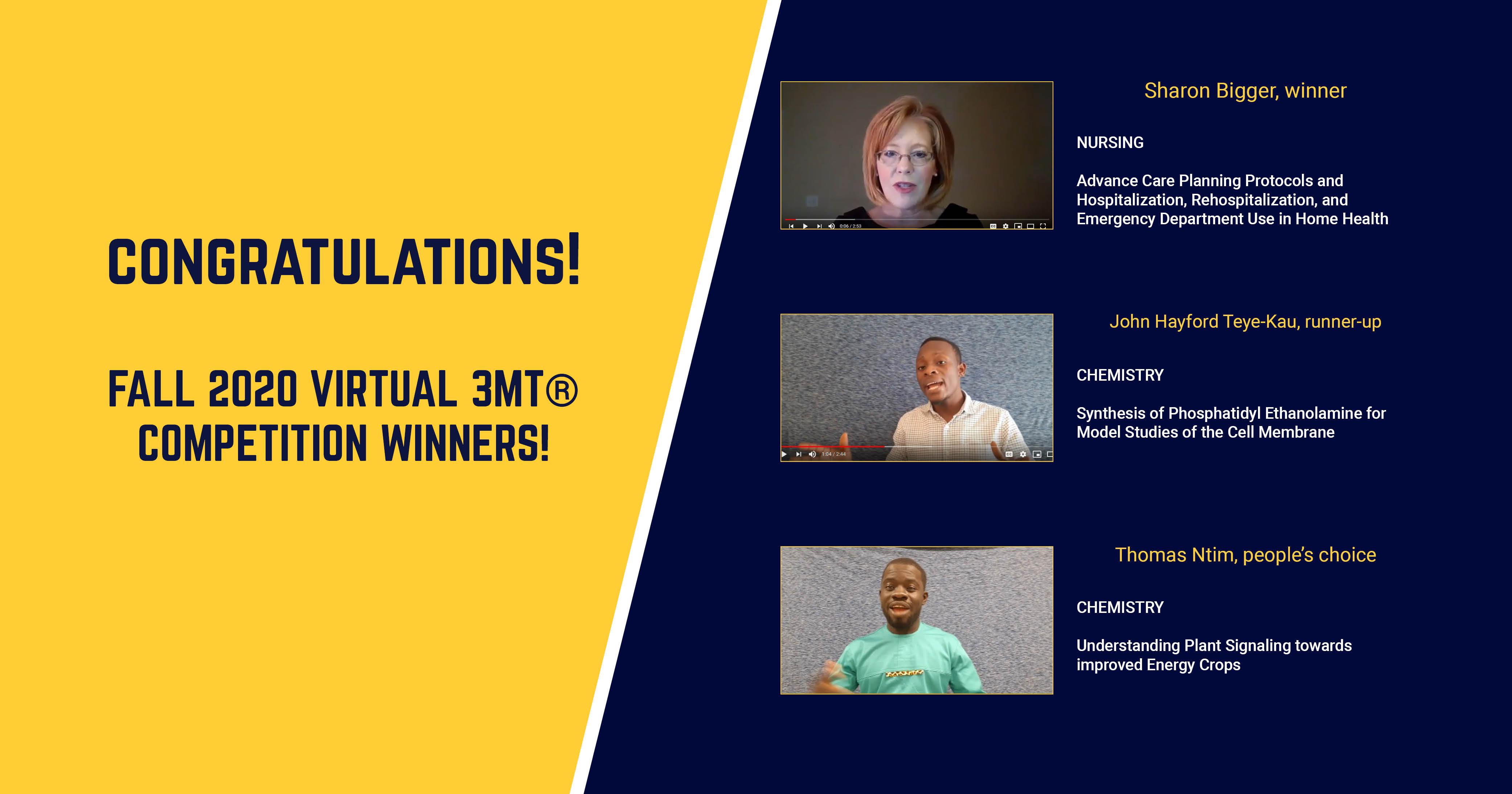 3MT Winners