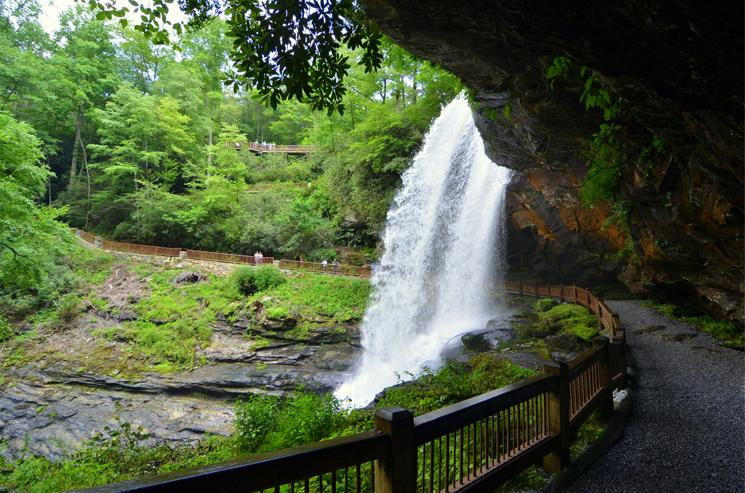 Dry Falls, 75 feet tall, Nantahala National Forest, Highlands