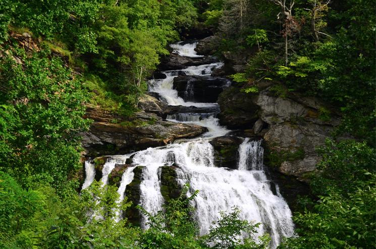 Cullasaja Falls (250 ft.), Nantahala National Forest