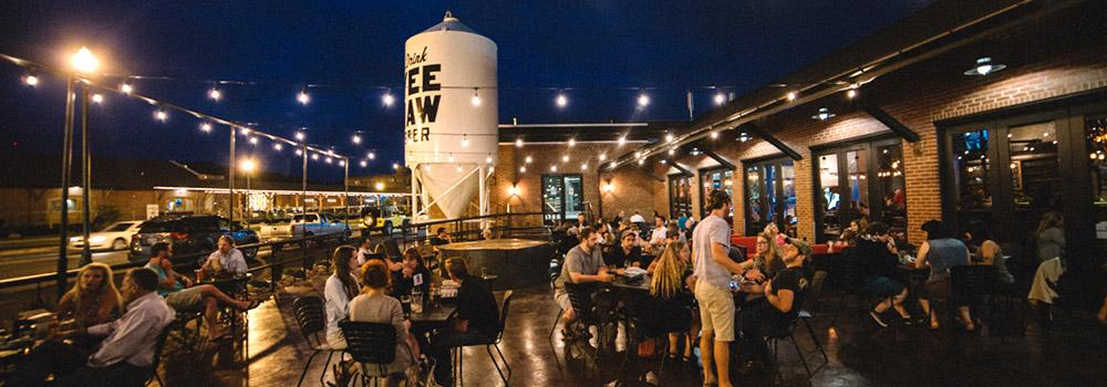 Downtown Johnson City is home to several breweries - Yee Haw, JRH and Johnson City Brewing Company