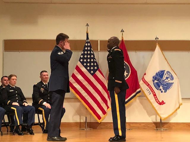 2nd Lt Yegon's first salute