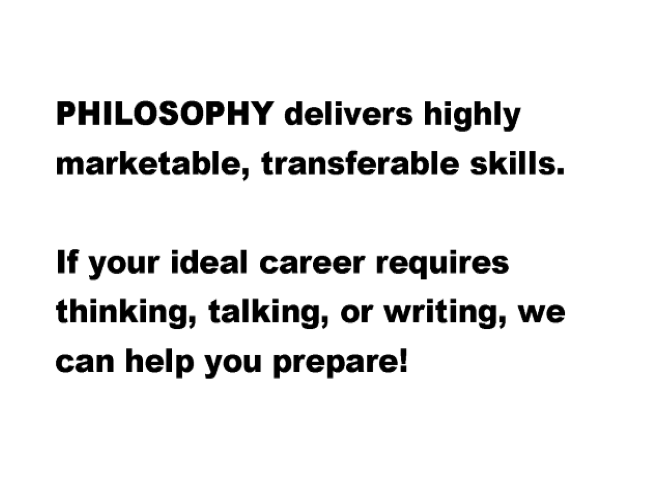 Philosophy delivers marketable skills