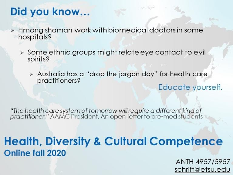 Health, Diversity, & Cultural Competence
