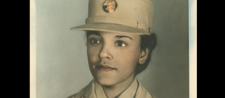Pauline Cookman on a gray background