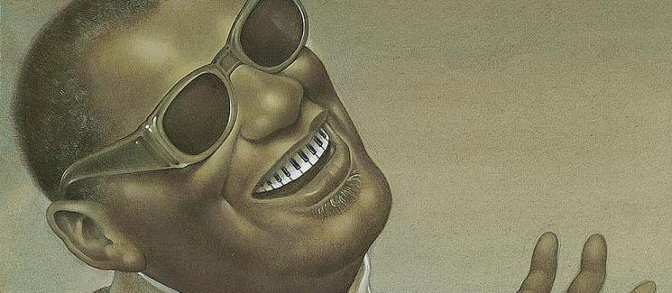 Caricature of Ray Charles