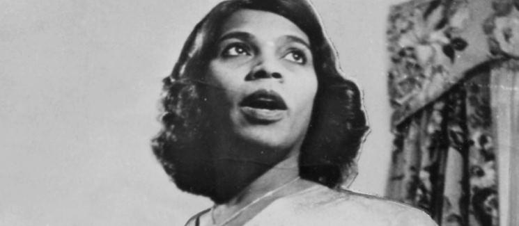 Marian Anderson singing