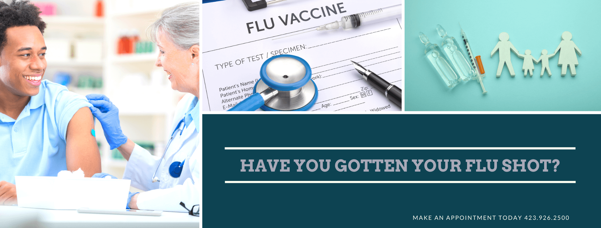 Get your Flu Shot and other vaccines. Protect yourself and your family against the FLU this season by getting vaccinated.