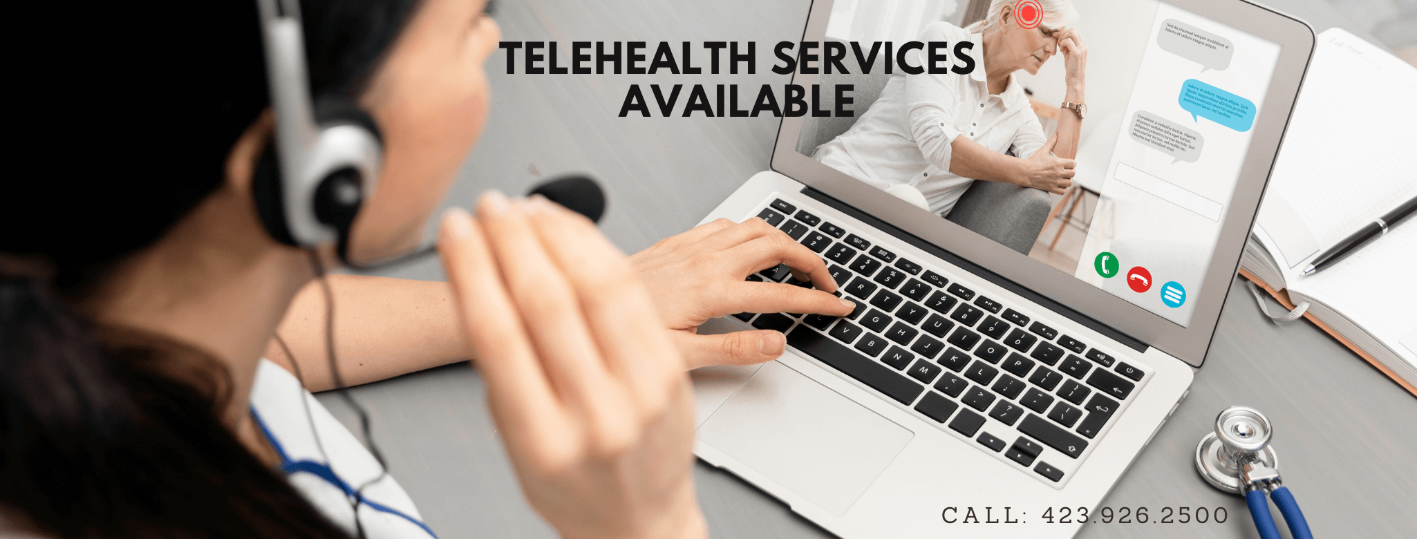 Telehealth services are available for you and your family wherever you are. Make an appointment today and get the health care you need.