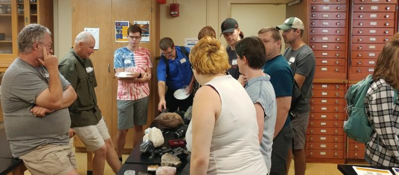 ETSU Geosciences students enjoy an up close view of all the department has to offer.