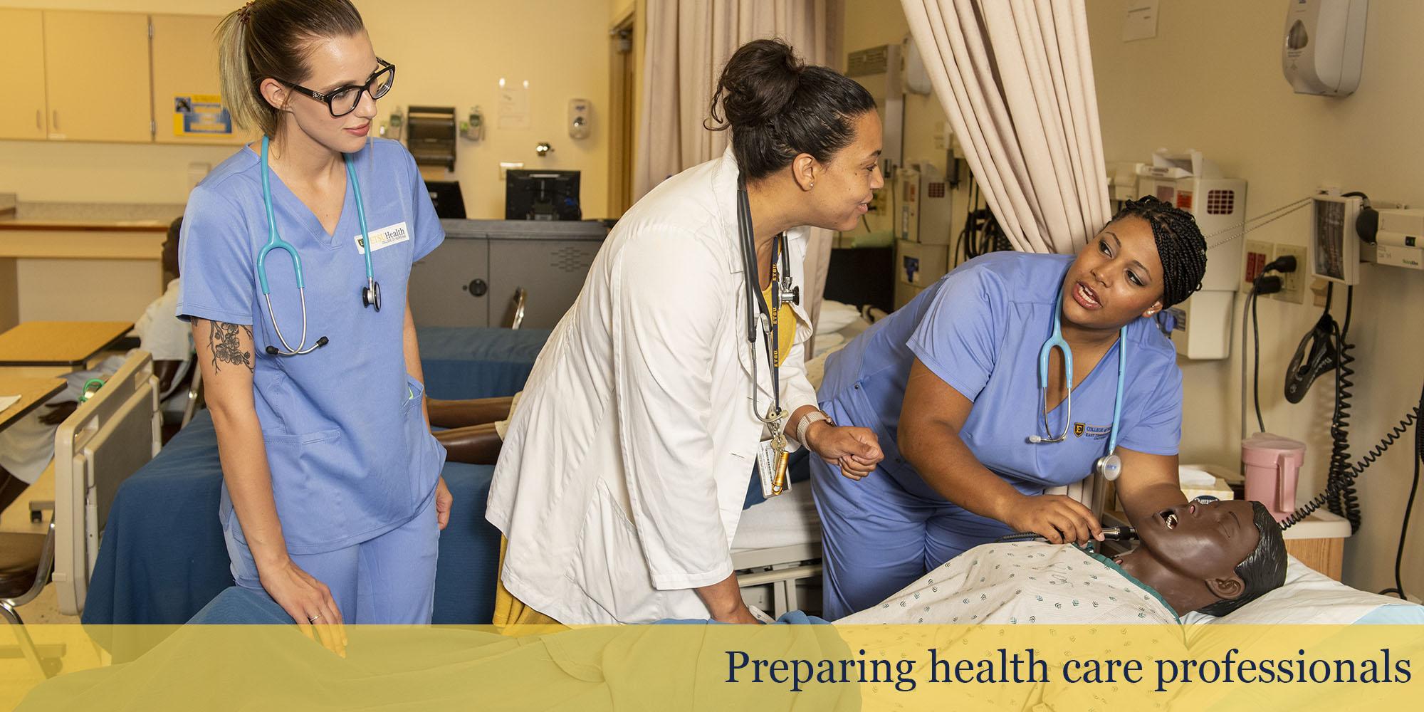 Preparing health care professionals