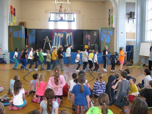 Ms Cradic's Class jumping rope