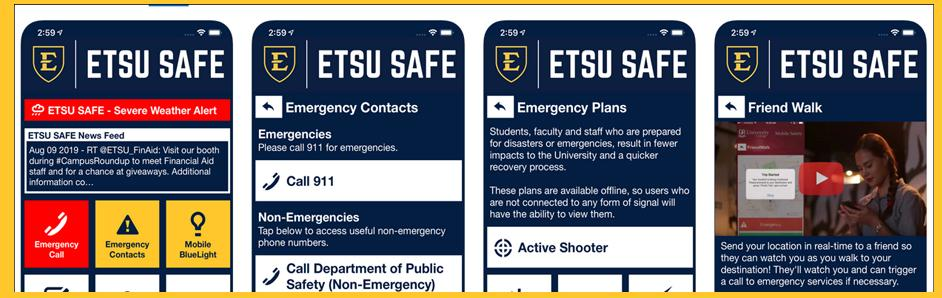 ETSU Safe App