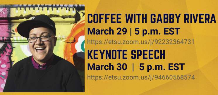 Gabby Rivera with event information