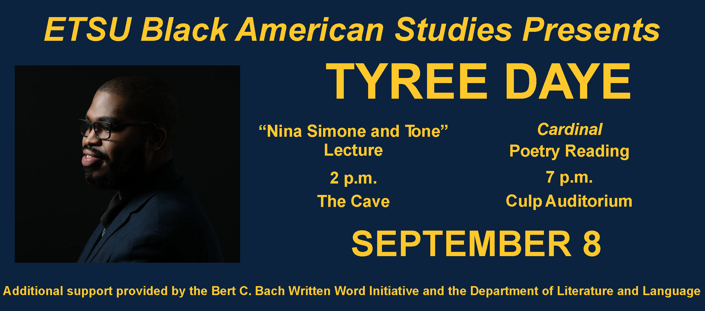 Tyree Daye with Event Information