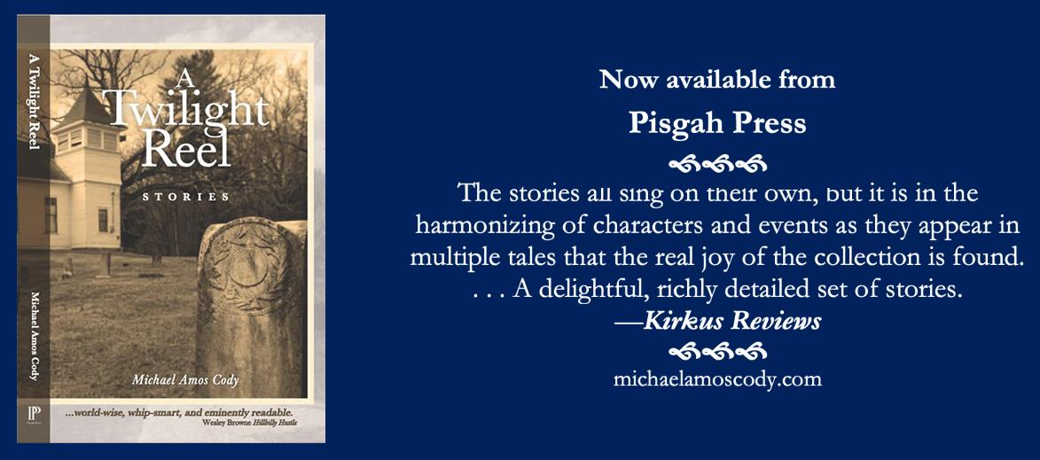 """A Twilight Reel cover with positive review stating, """"The stories all sing on their own, but is in the harmonizing of characters and events as they appear in multiple tales that the real joy of the collection is found. A delightful, richly detailed set of stories."""""""