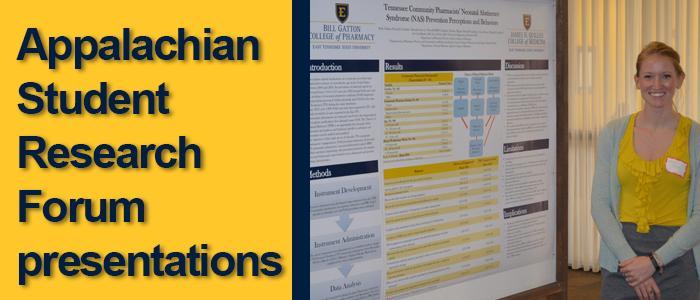 Appalachian Student Research Forum presentations