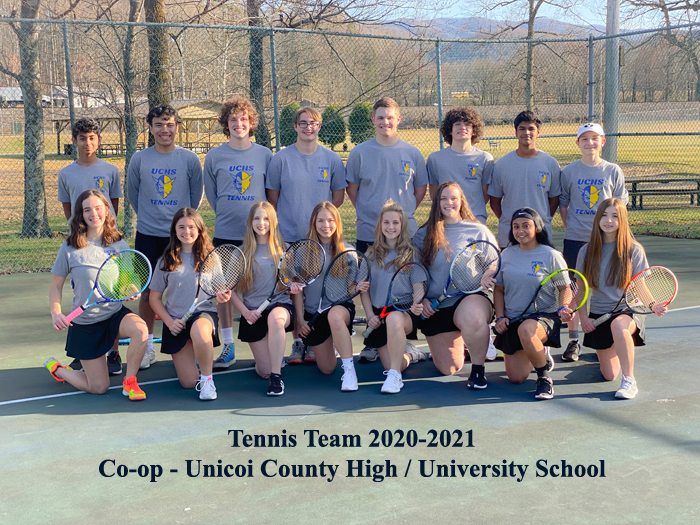 2020-2021 Tennis Co-op Team with Unicoi Co