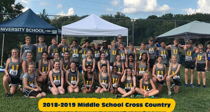 2018-2019 Cross Country Middle School