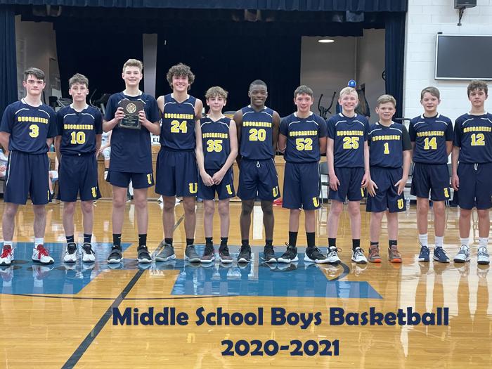 2020-2021 Middle School Boys Basketball