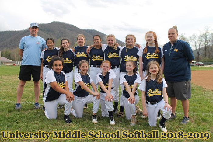 2018-2019 MS Girls Softball
