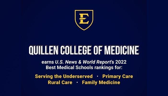 Quillen College of Medicine among U.S. News 'Best Medical Schools' rankings