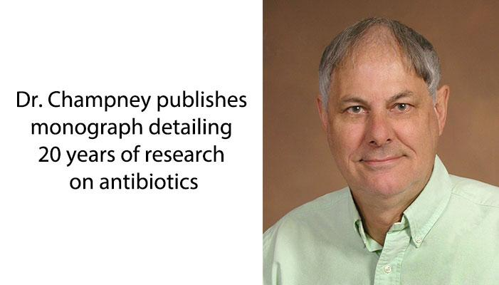 Monograph details 20 years of research on antibiotics