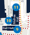 Ball, Mathes, Burleson Halls