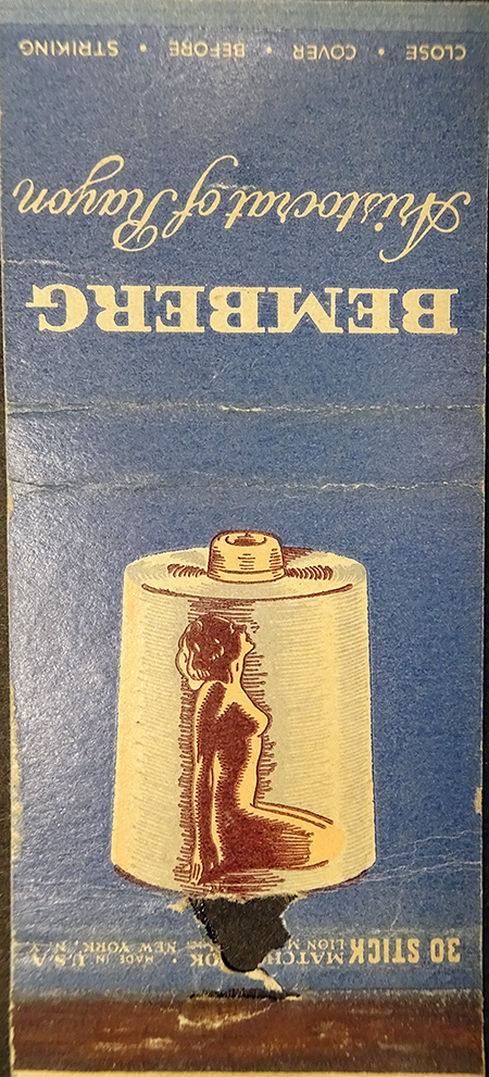 The Bemberg Matchbook Advertisement