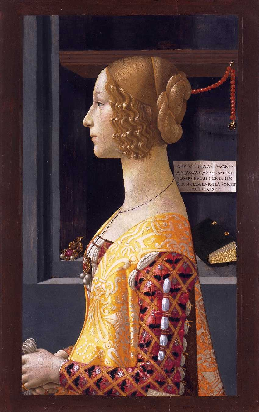 Portrait of Giovanna Tornabuoni by  Domenico Ghirlandaio, 1488.  Public Domain Image