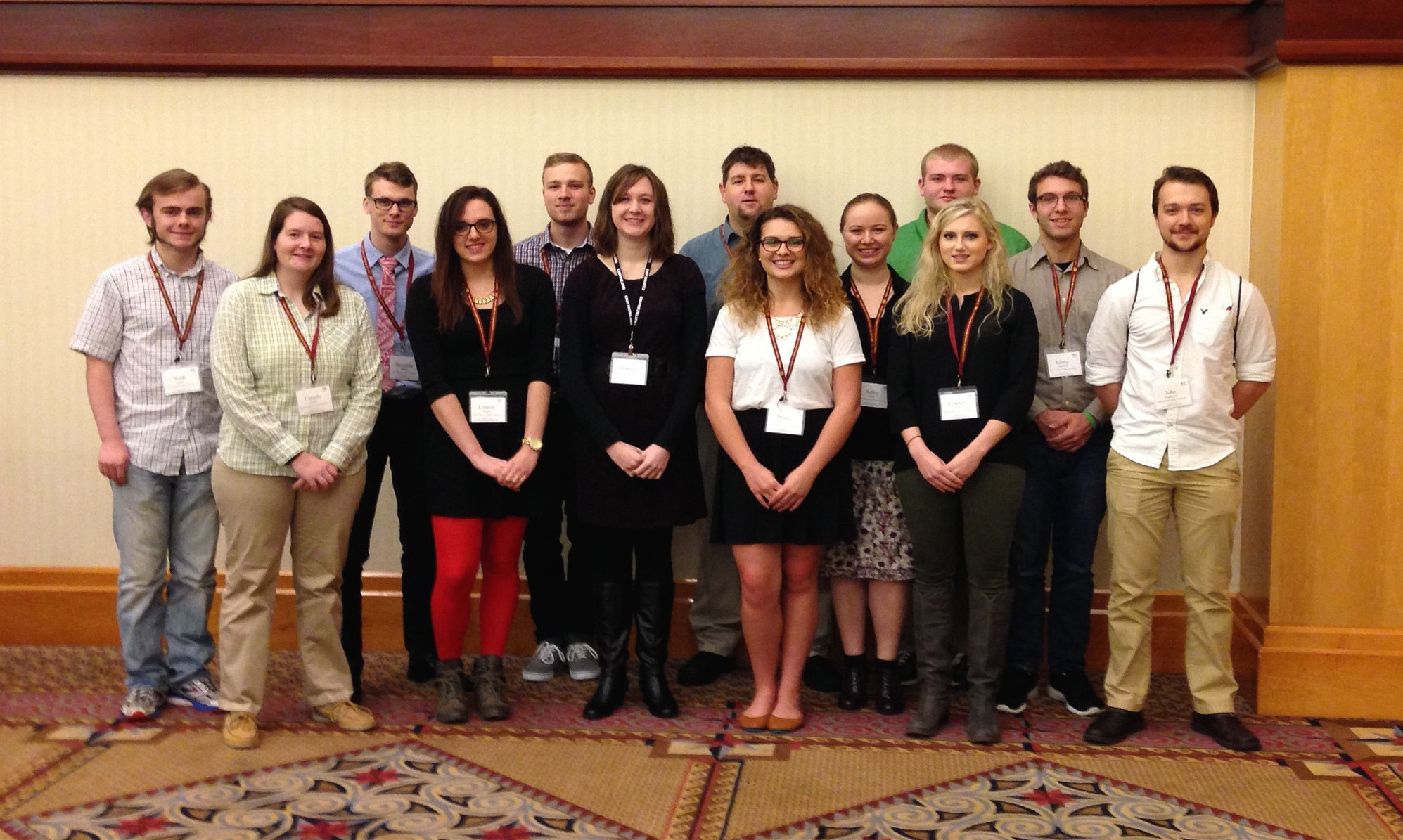 2015 S-STEM scholars while attending Field of Dreams conference