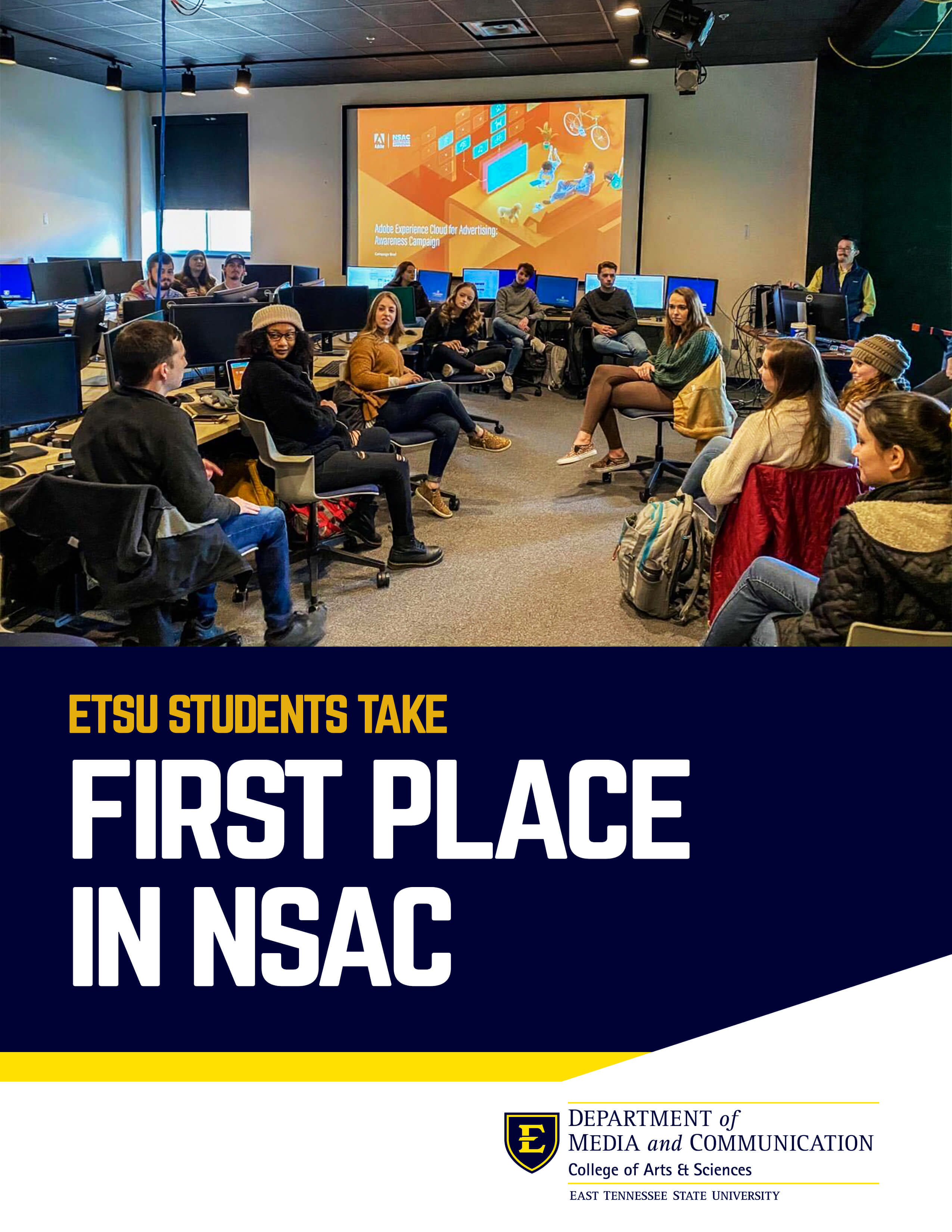 decorative image for ETSU at the National Student Advertising Competition