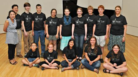 group picture of track two students