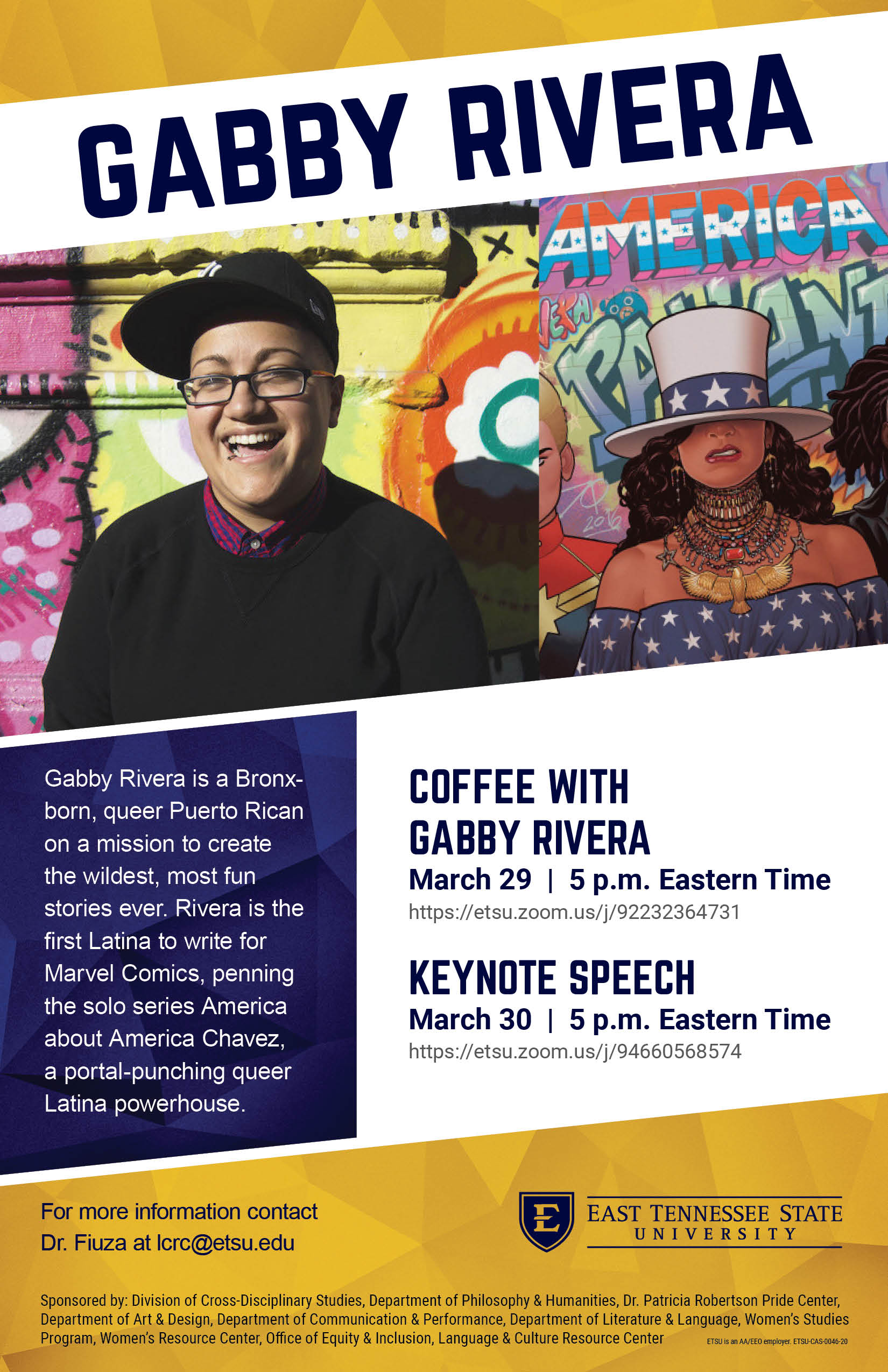 Gabby Rivera event March 29 and 30, 2021