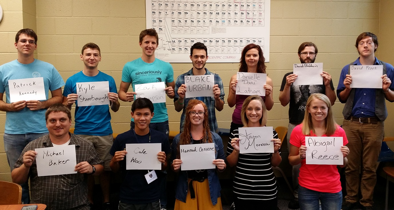 12 Physics majors : August 2015