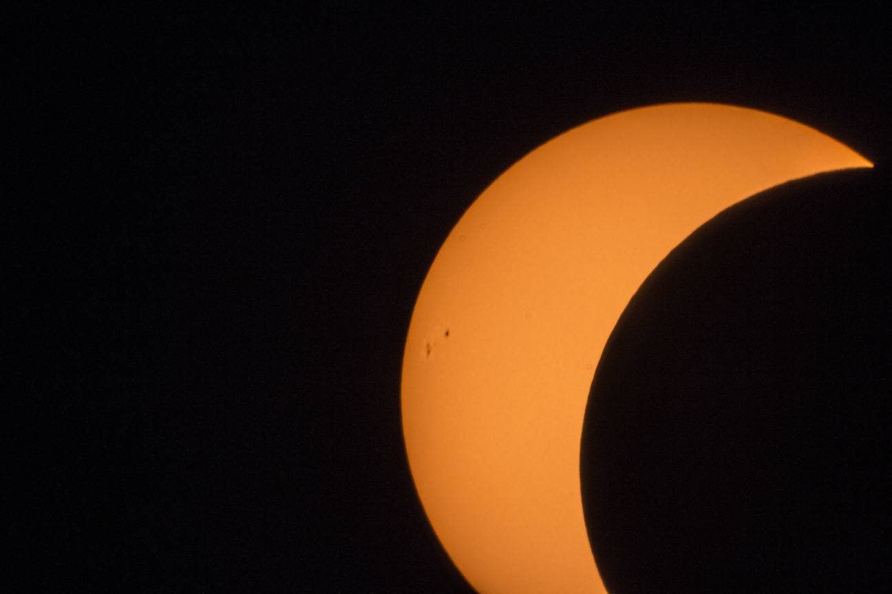 sunspots during partial solar eclipse