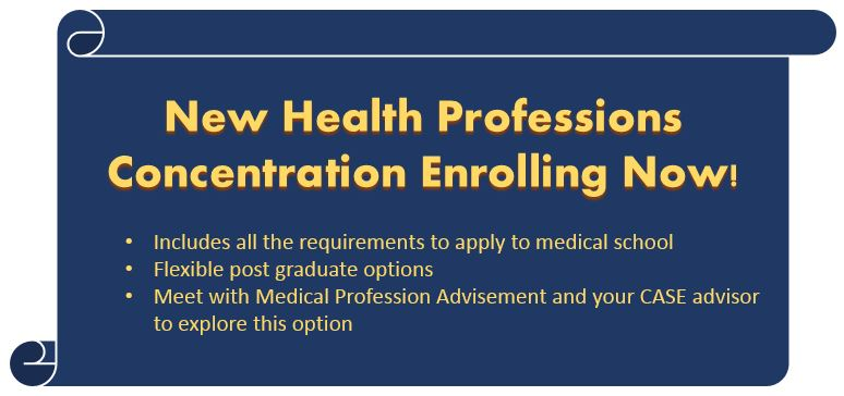 Health Professions Advising Banner