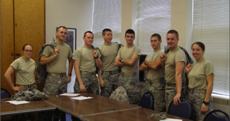 Cadets in classroom