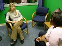 individual recieving counseling