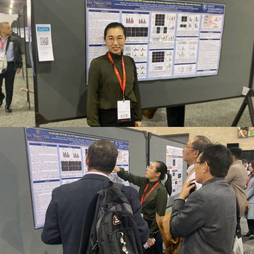 Min Fan presents posters at AHA Scientific Sessions.