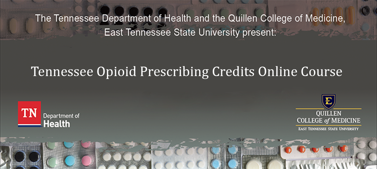 decorative image for Tennessee Opioid Prescribing Credit Online Course