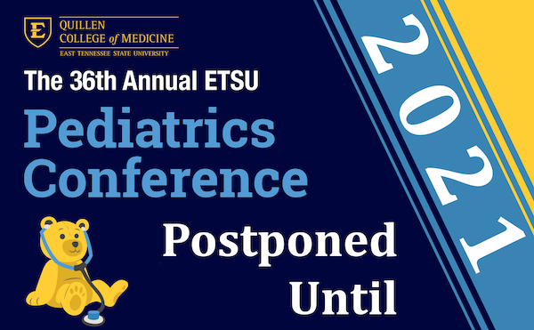 decorative image for 36th Annual ETSU Pediatrics Conference