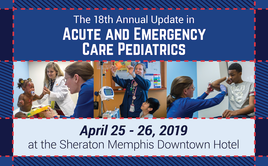 18th Annual Update in Acute & Emergency Care Pediatrics Conference Banner