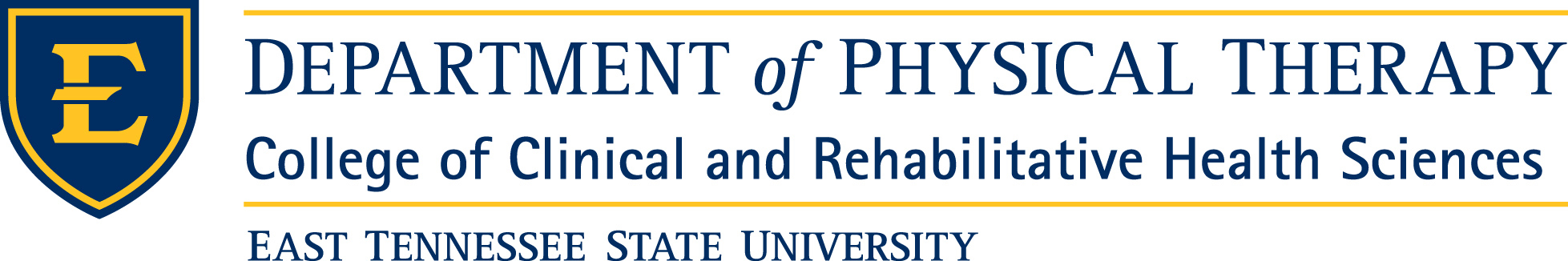 ETSU Physical Therapy Logo