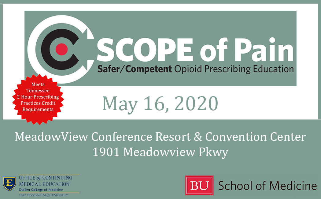 decorative image for SCOPE of Pain - Safer/Competent Opioid Prescribing Education