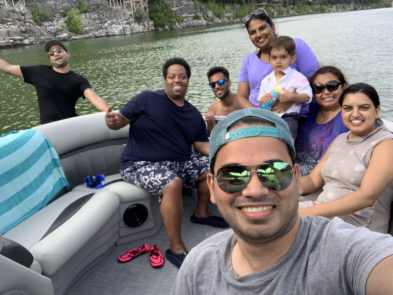 Boating on Watauga Lake 2019