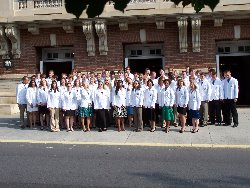 group of 2018 white coat picture