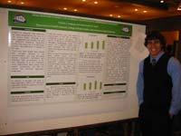 Forrset Longway at his Poster Presentation